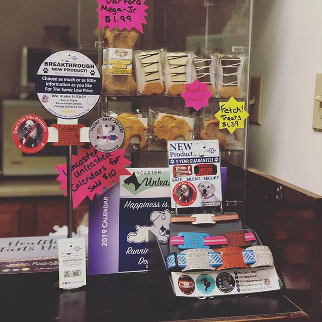 New Display up at Purely Pets!!! Swing by to catch great in store savings!!! Buy your own ID Tag today @purely_pets in Lancaster, NY . - . - . - . - . #dogoftheday #localbusunesses #new #outdoors #dog #doge #doggy #dogo #fun #support #greatdeals #pup #puppy #dogsofinstagram #puppies #puppiesofinstagram #fordogs #good #safe #comfortable #silent #durable #collar #tag #idtag #animals #pets #pet #petsofinstagram #petsupplies
