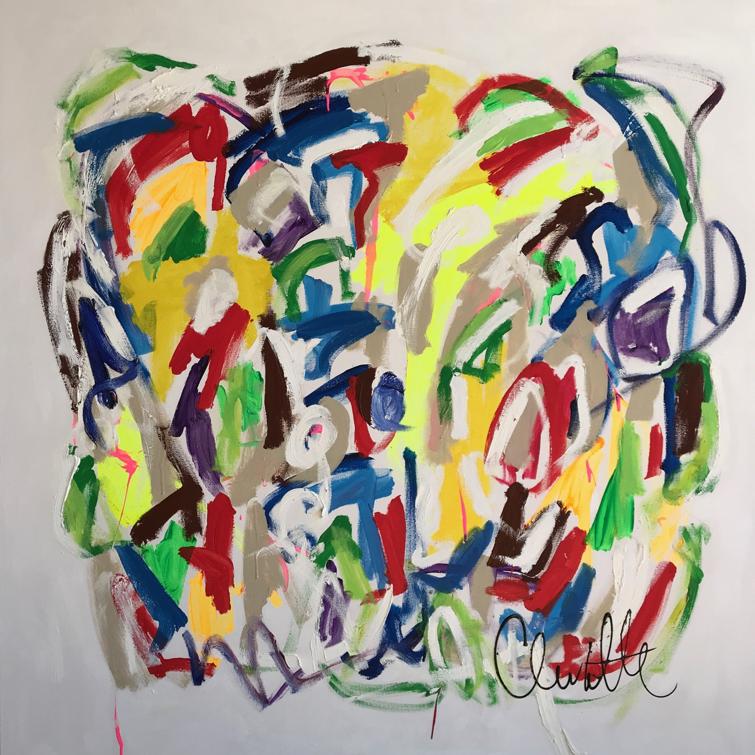 """""""Escape Into Everything"""", 48 x 48 inches"""