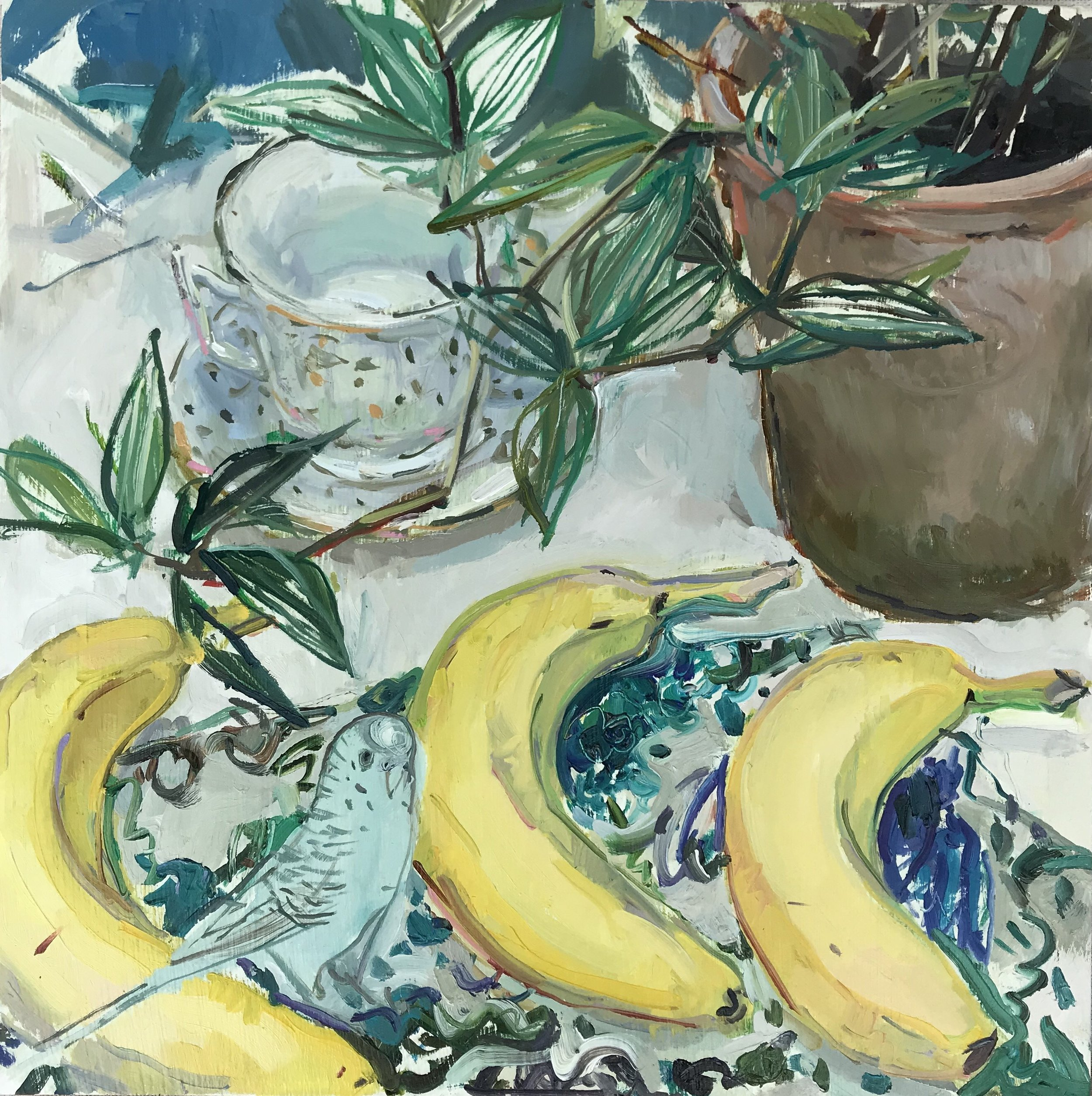 """Elegant Bananas"", 12 x 12 inches"