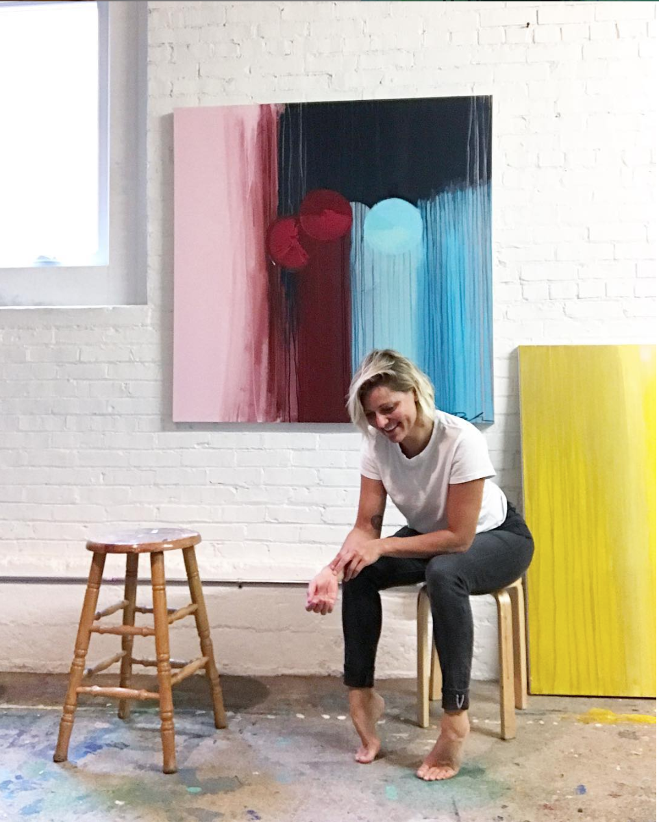 Bethany in her studio.