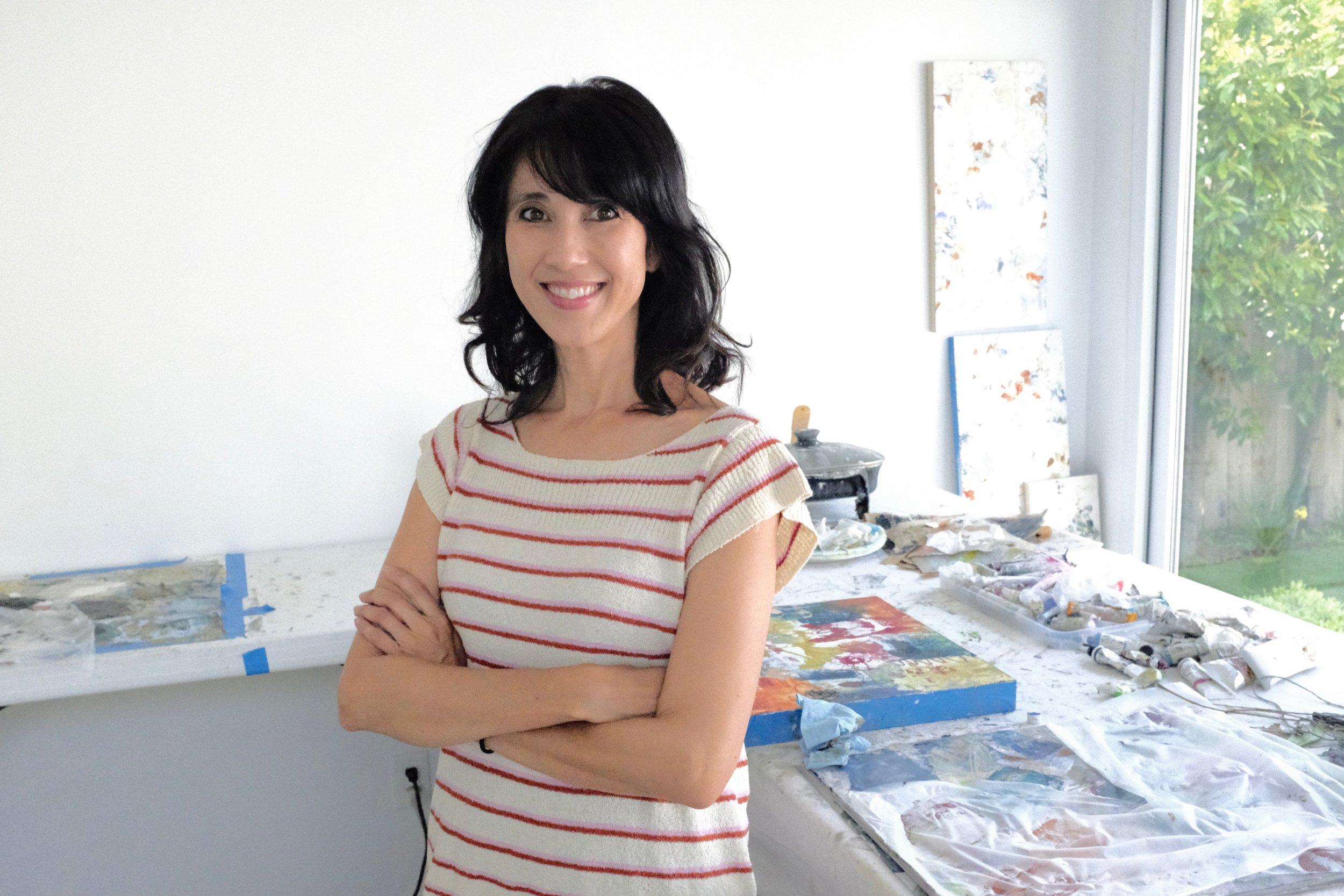 Sali Swalla in her studio