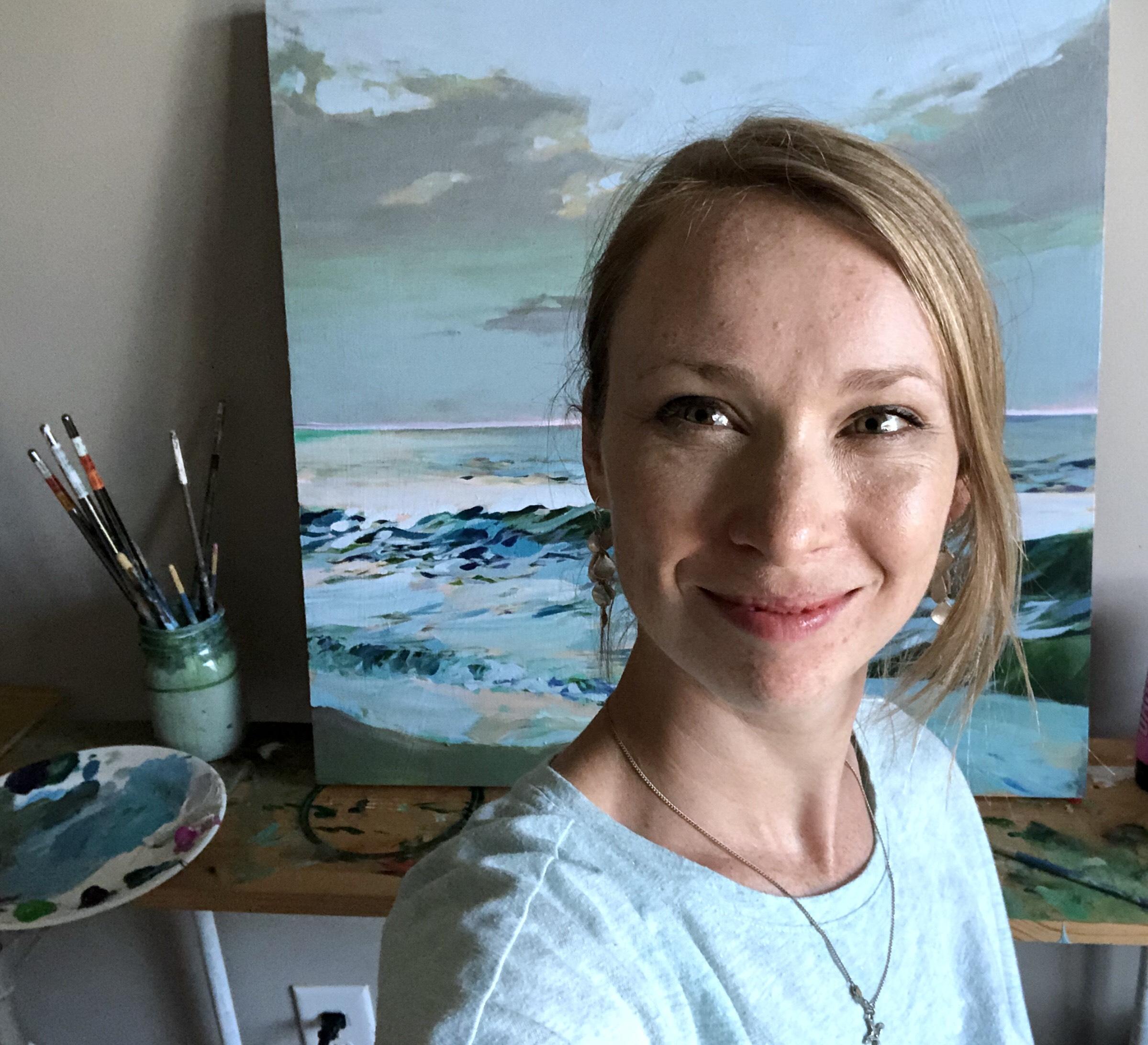 Annalisa Fink in her studio