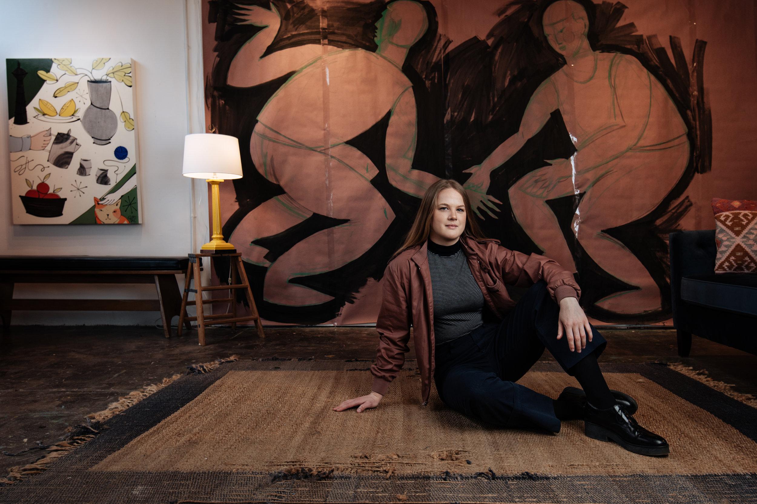 Loflin in her studio