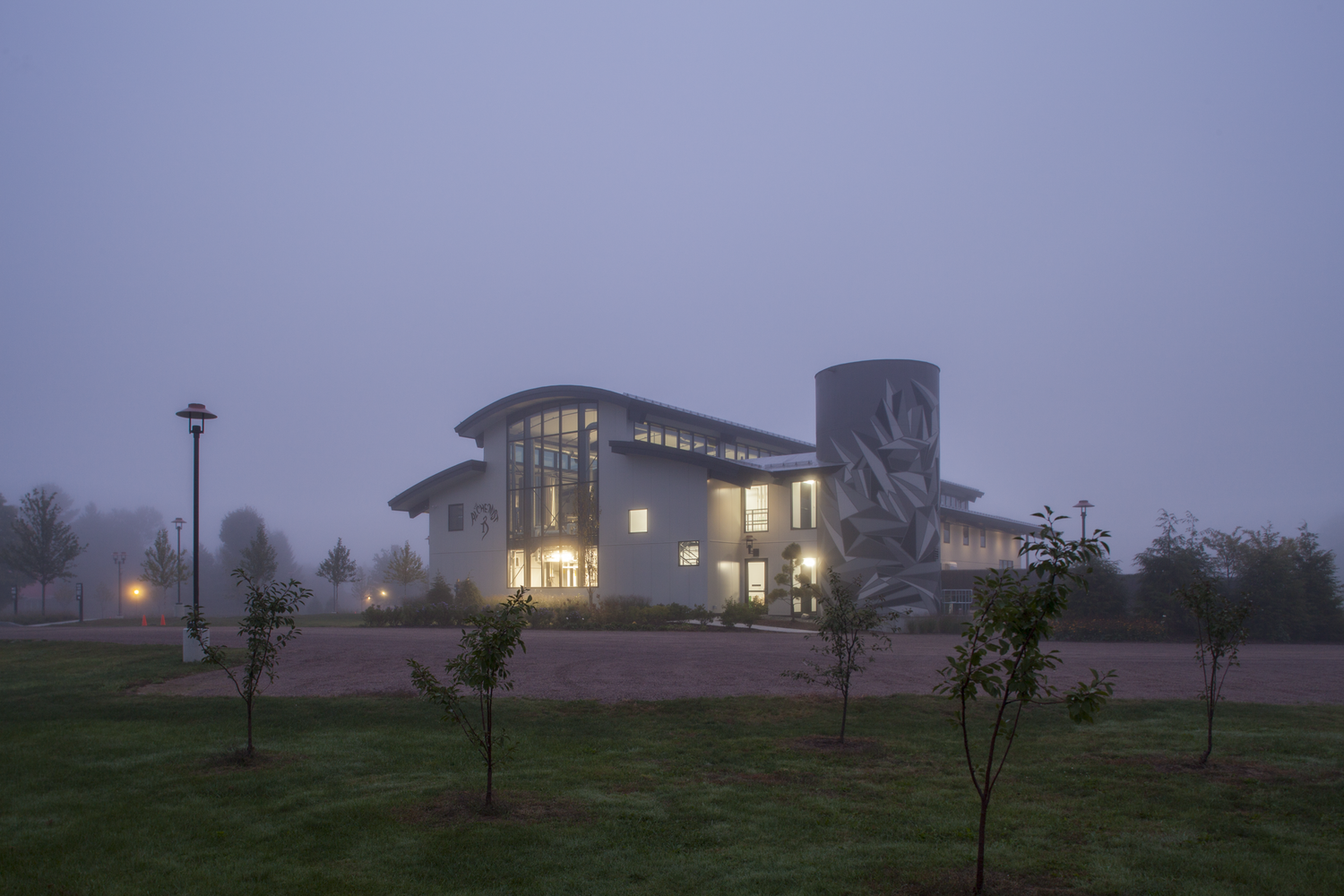 The Alchemist Brewery in Stowe, Vermont at twilight. Architecture by Austin Design, image by    Michael Penney Photography   .