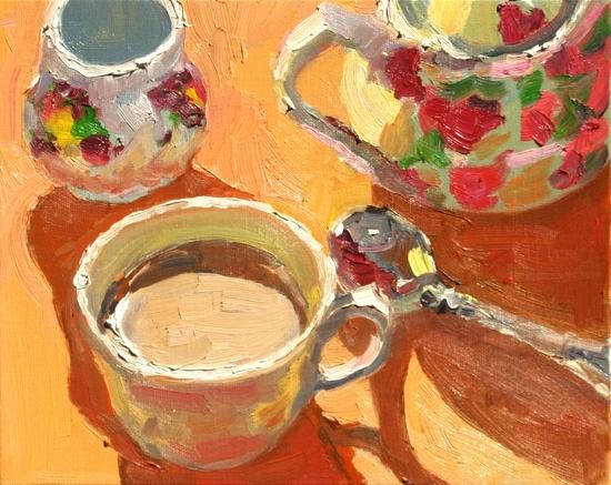 Flowered Tea Set