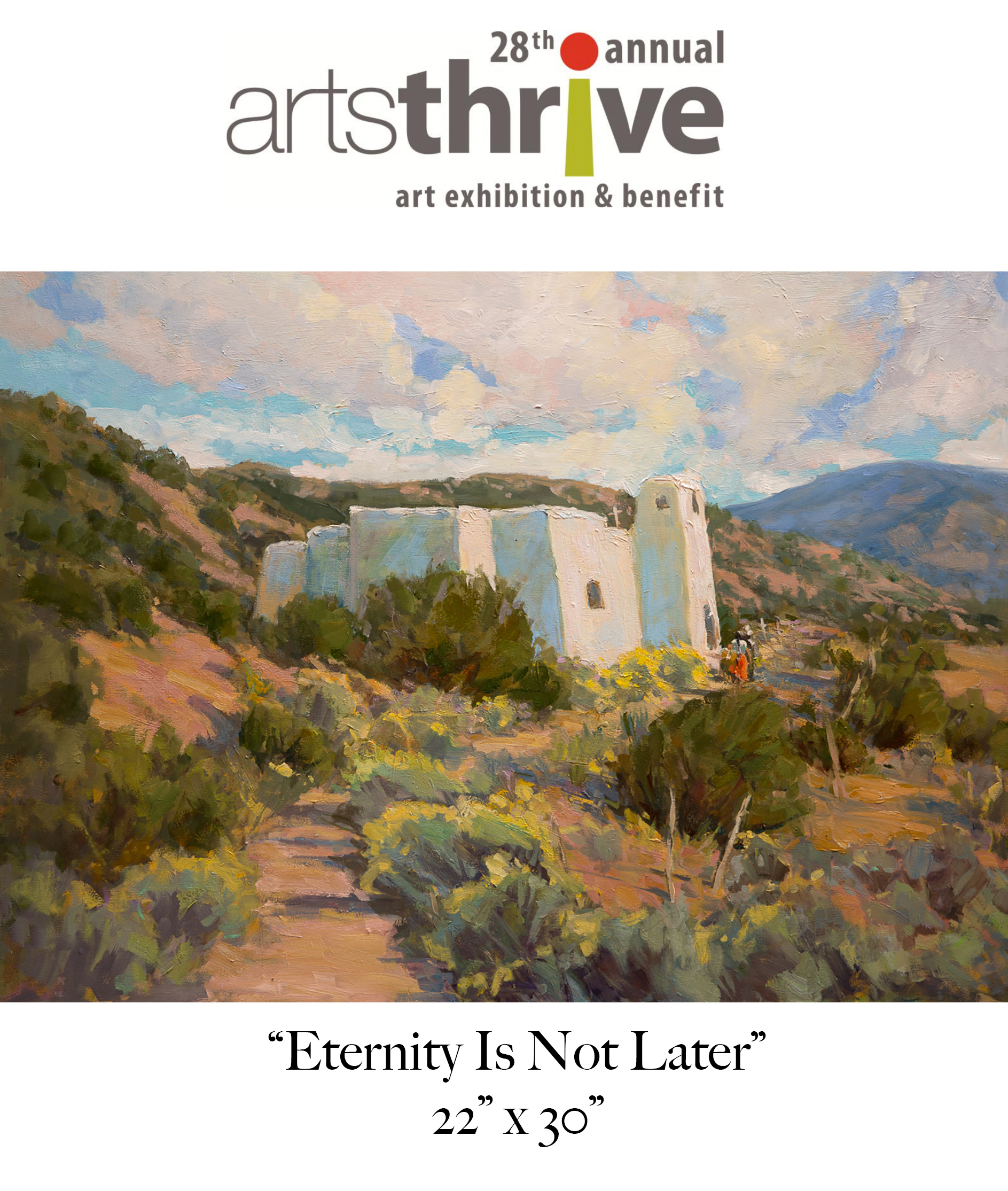ArtsThrive: Art Exhibition & Benefit Oct. 19 - Dec. 2 - I have been invited as one of 100 artists to exhibit this fall at the Albuquerque Museum as part of their ArtsThrive Exhibition & Benefit October 19th - December 2nd. I have been selected for the special honor of being one of seven artists asked to display large format work. Stay tuned for more info!https://albuquerquemuseum.org/artsthrive-art-exhibition-benefit/