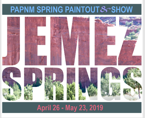 PAPNM Jemez Springs Paintout & Show - April 26 - May 23, 2019I have the great honor of judging what will be an amazing show of talent in beautiful Jemez, NM!Paintout Period: April 26-May1Opening Reception: May 4, 1-4pmExhibition: May 4-May 23I will also be teaching a workshop from April 23-25. Please come join me for an amazing artistic experience!