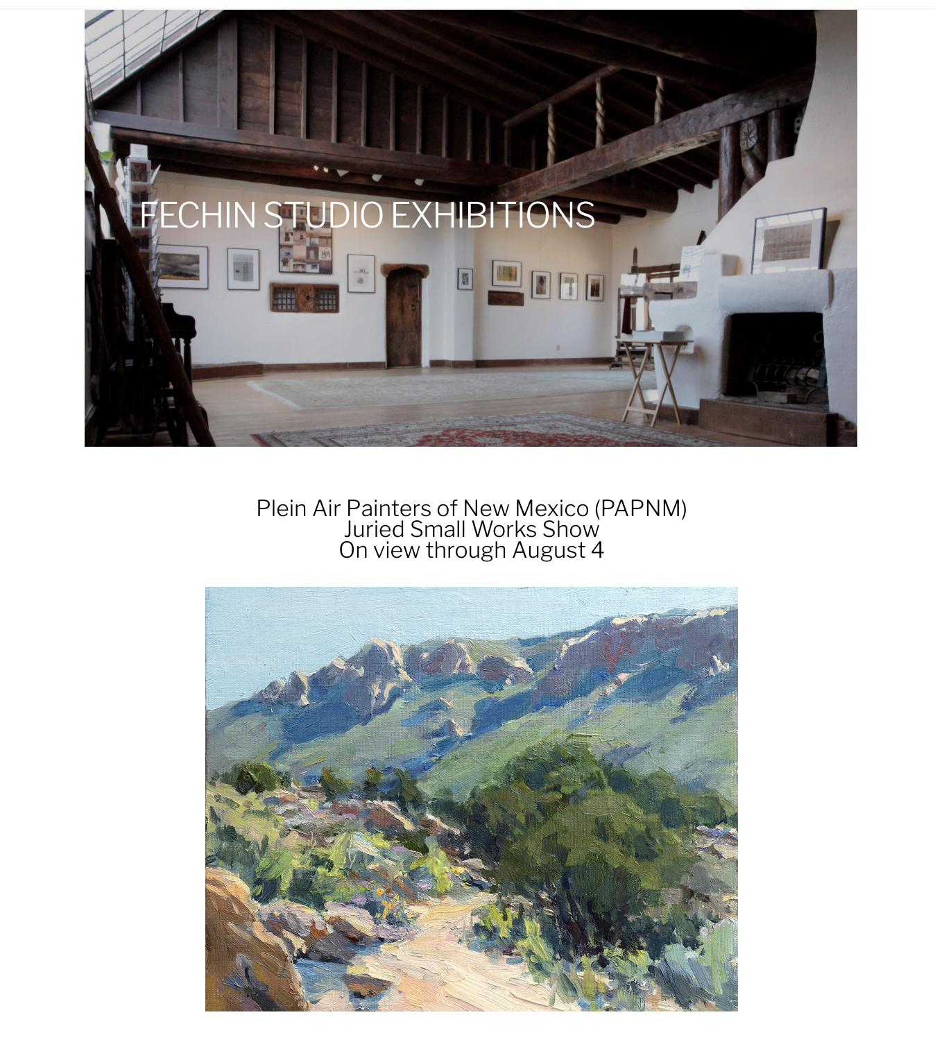 """PAPNM Award! - It's an honor to announce that one of my newest paintings, """"Tres Pistoles"""" was given an Award of Excellence at the Taos Art Museum at Fechin House for the Plein Air Painters Juried Small Paintings Show.Show is on view through August 4th at the lovely Fechin House on Paseo del Peralta in Taos, NM, so please stop by if you are in the area!"""