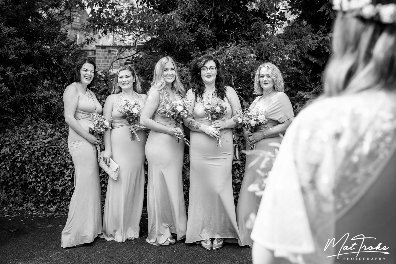 Dronfield Hall Barn Chesterfield Bridal Party - Wedding Photographer - Mat Troke Photography