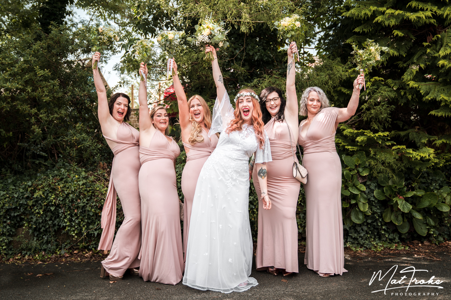 Dronfield Hall Barn Bridal Party - Chesterfield