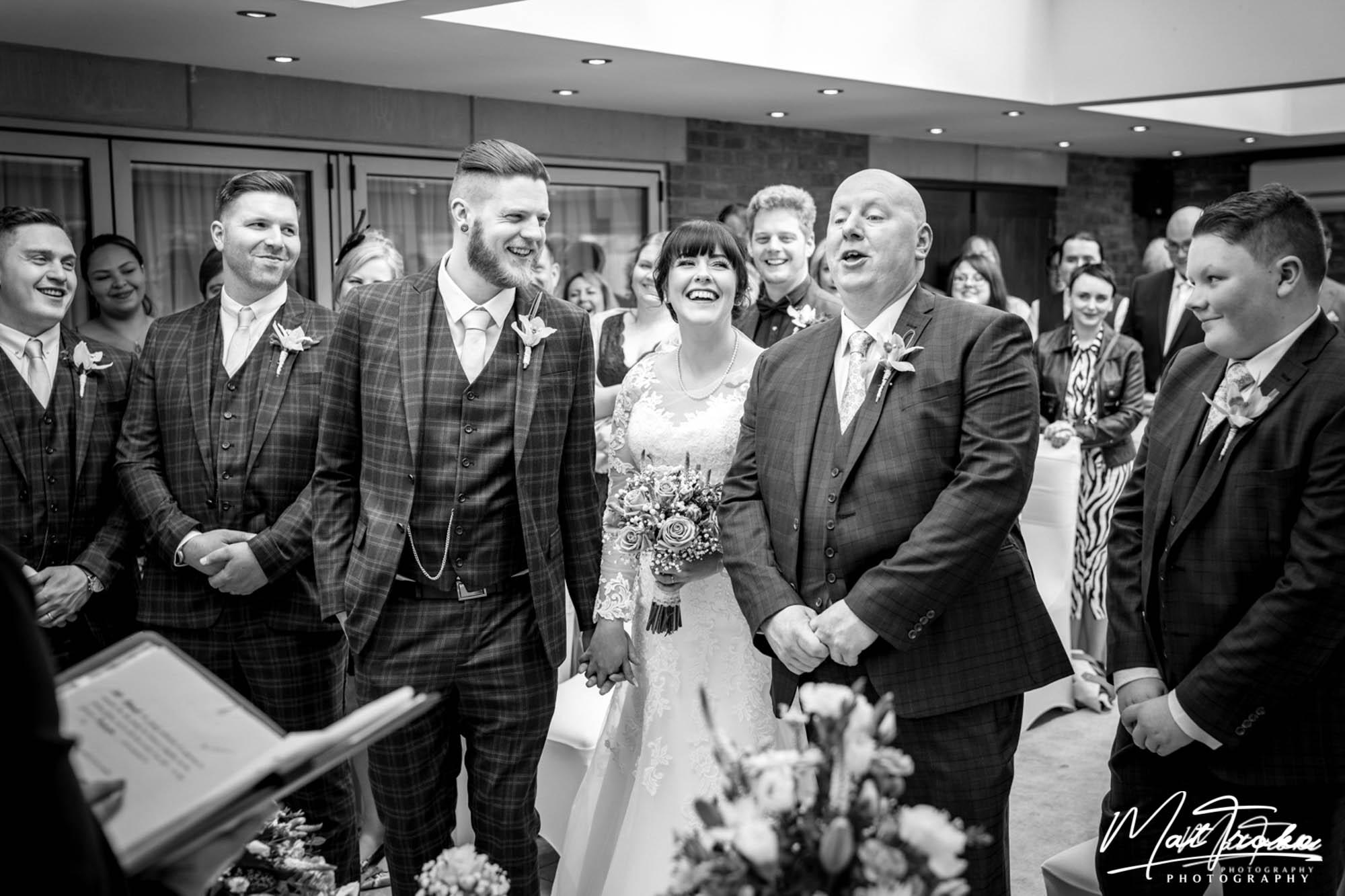 White Hart Inn Wedding Ceremony, Annesley, Derby
