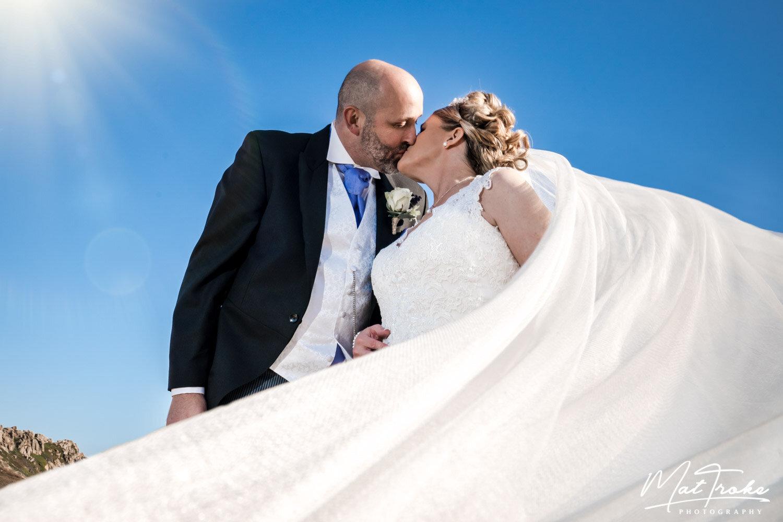 Jersey Wedding Sweeping Veil