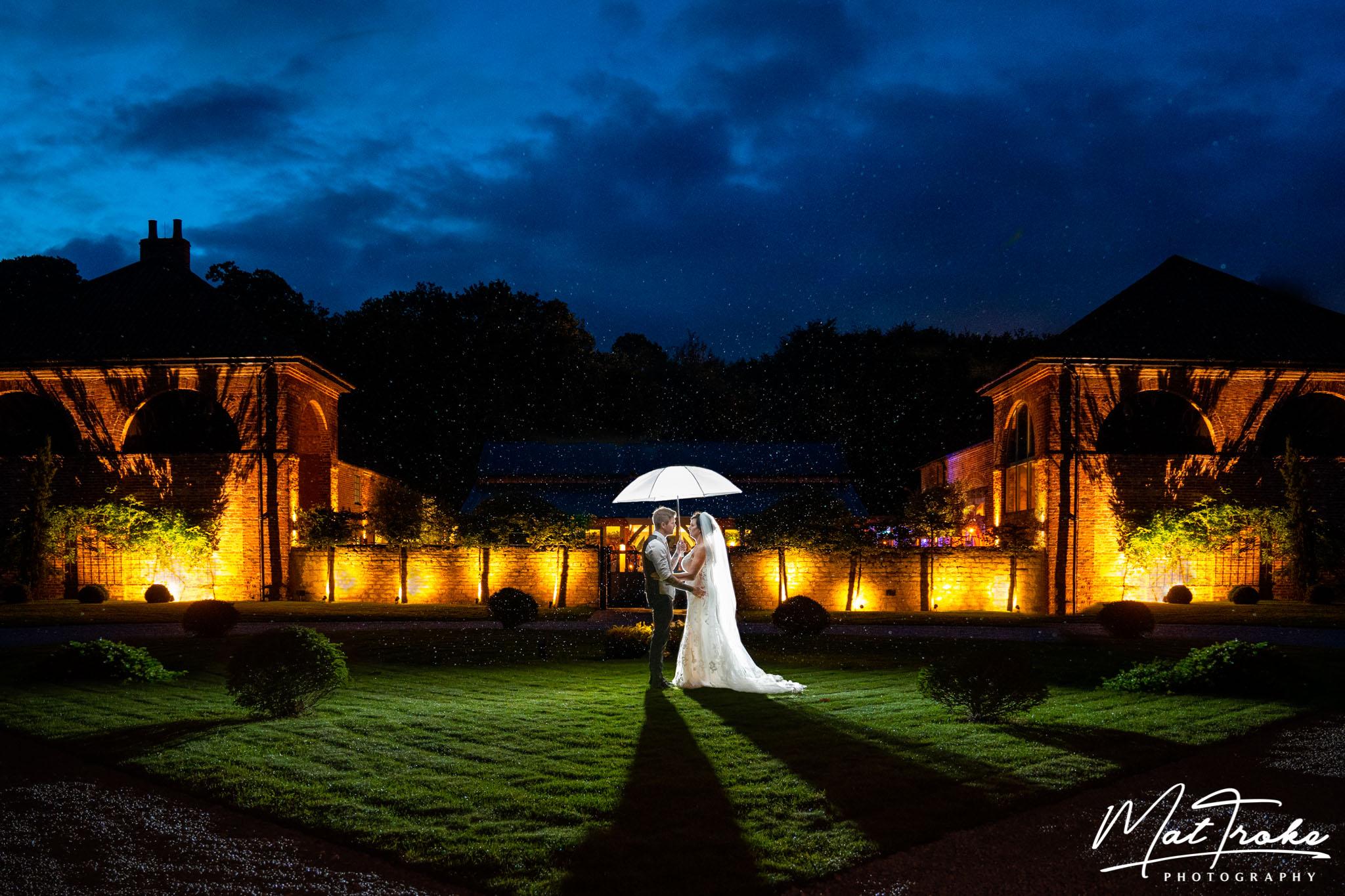Hazel Gap Barn Wedding - Rain at night