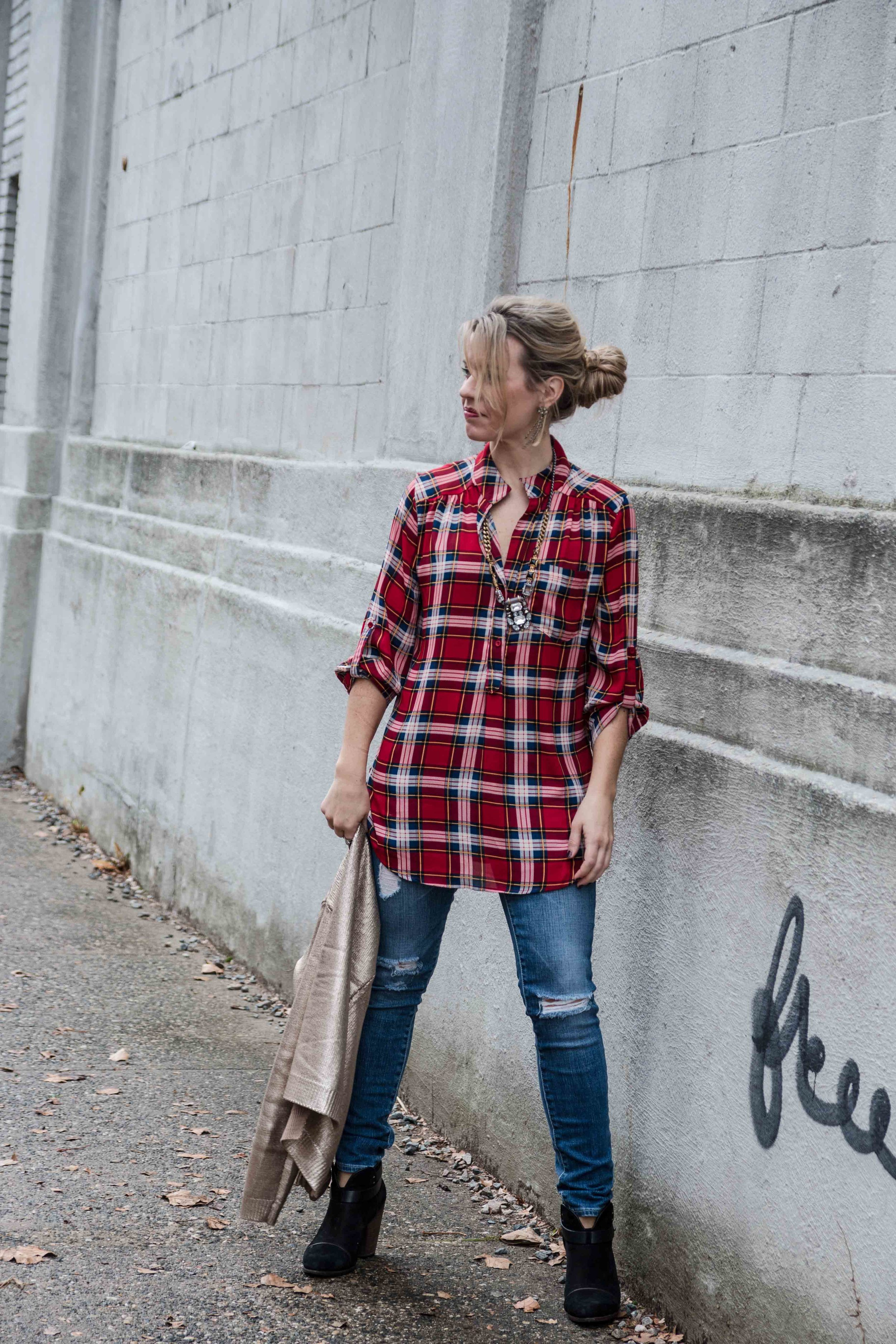plastered in plaid