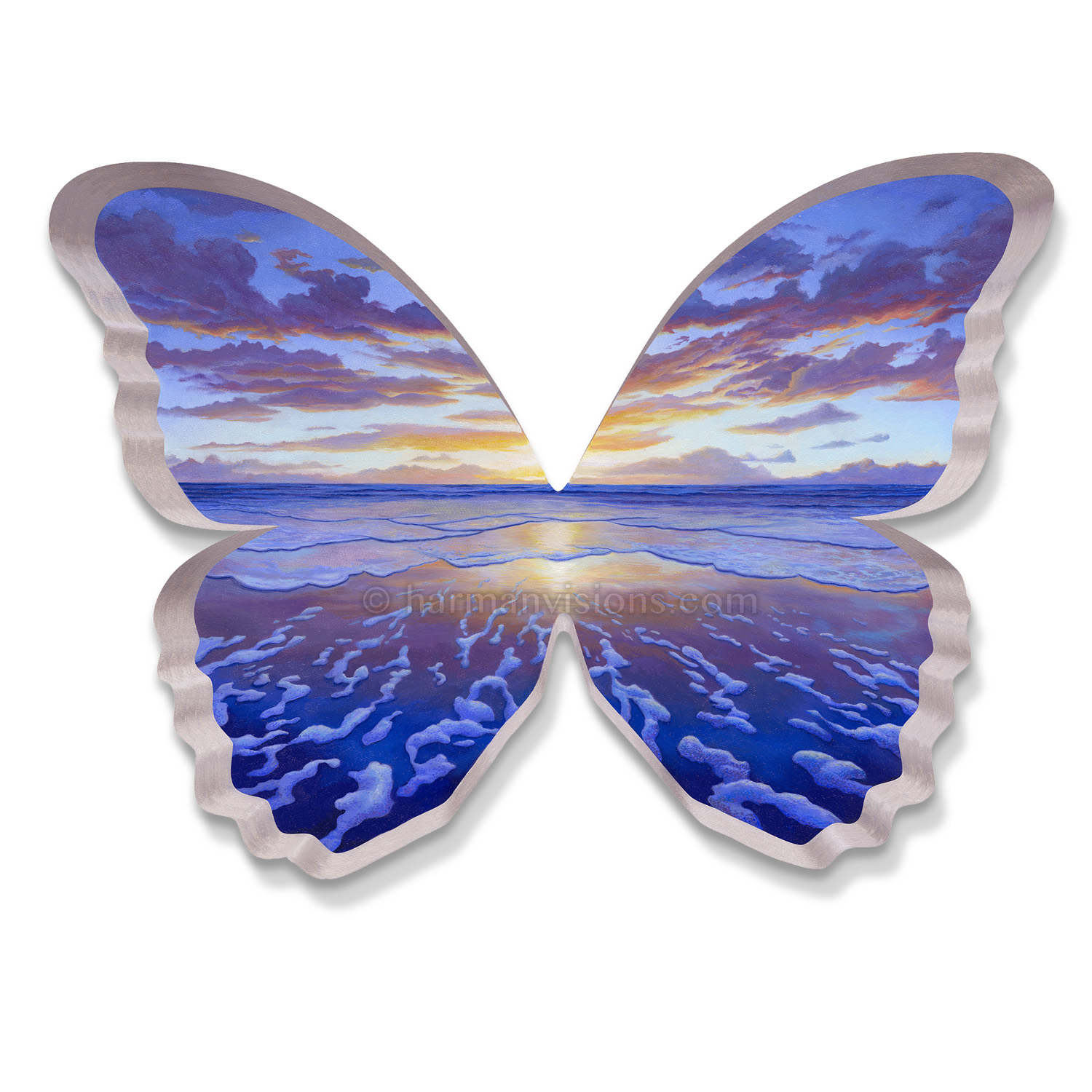 BUTTERFLY SUNRISE shaped print