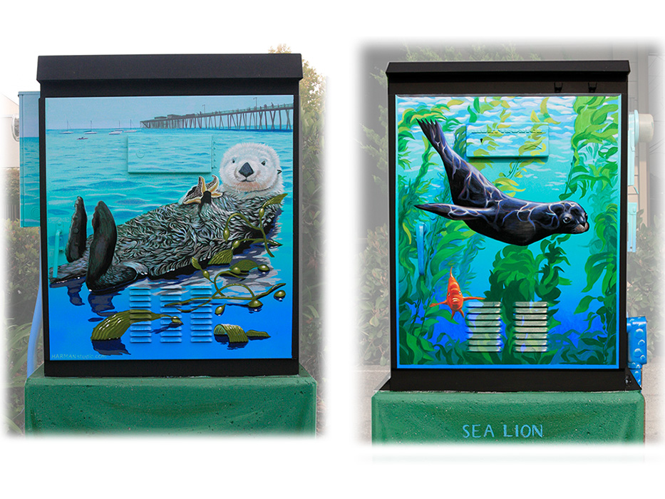 - Sea Life Street Boxes. Click for all the murals.