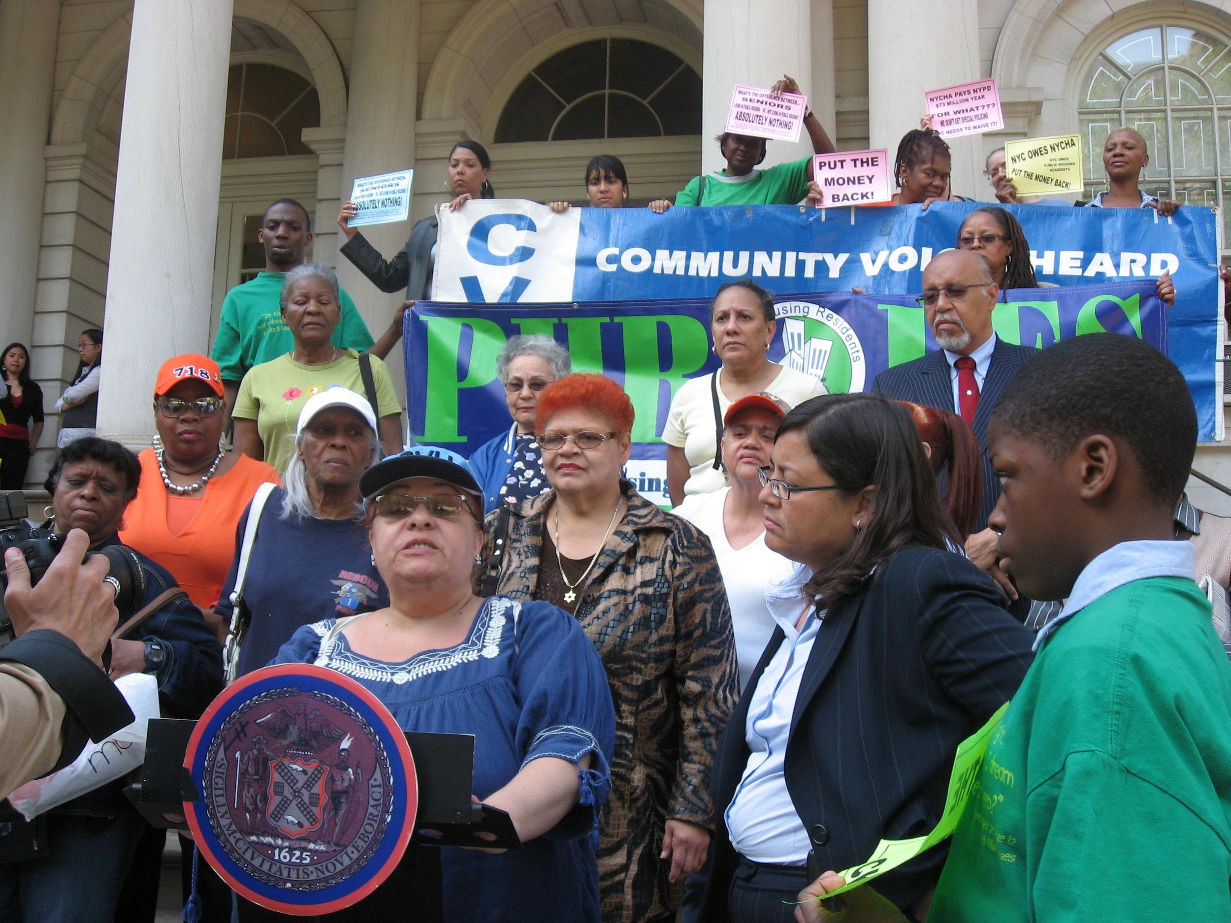 NY City Hall Public Housing Rally May 2008.jpg
