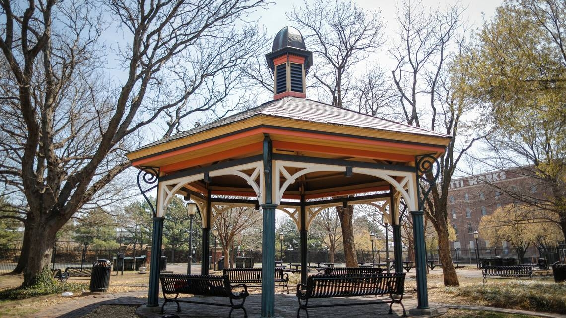 April 10, 2018 - Pieces of Naftzger Park, including iconic gazebo, to find new life in other places