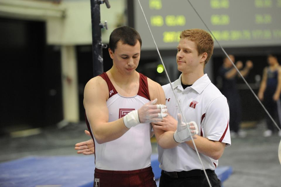 Allan with his assistant coach at Temple University.
