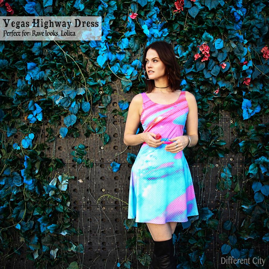 Vegas Highway Skater Dress