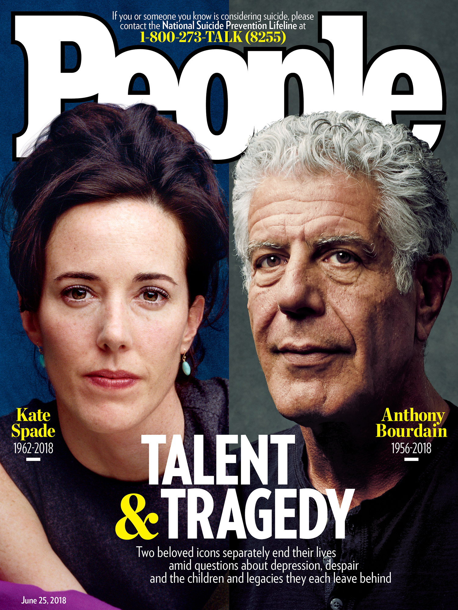 Hey People Magazine! - I hope that you're donating some of the profits that you're making off of Kate Spade and Anthony Bourdain's deaths to a mental health or suicide awareness non-profit, but I highly doubt you are doing anything other than exploiting the deaths of these people and using your huge platform for sensationalism instead of actually helping the cause by promoting activism and better access to healthcare.