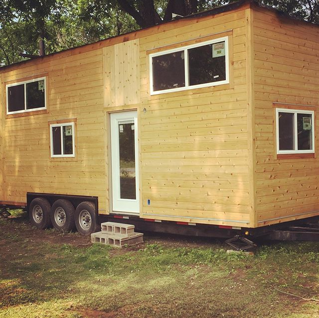 This tiny home is ready for individual expression. Rough electrical and plumbing already in place in this beautiful shell of a home. The trailer is top notch, and it is RV certified as well as approved for insurance.