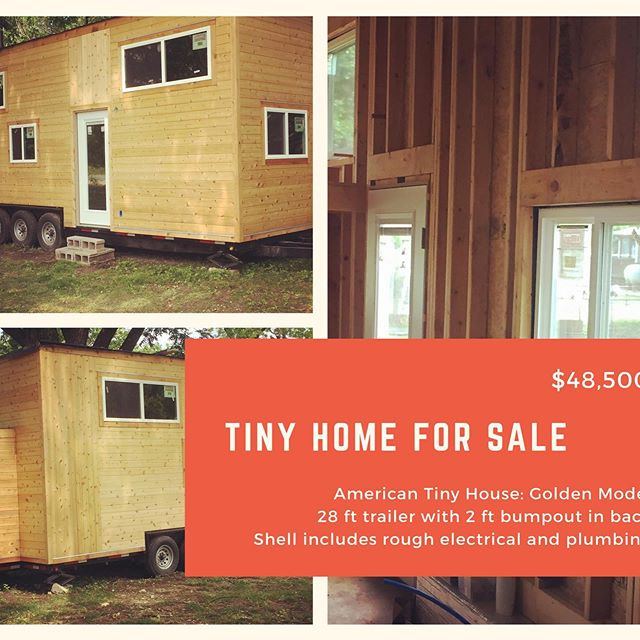 Tinyhome shell is ready for you to create your own living space. It is an American Tiny House custom trailer featuring their Golden Model. Contact anita@buildingcompassion.org or andy@americantinyhouse.com