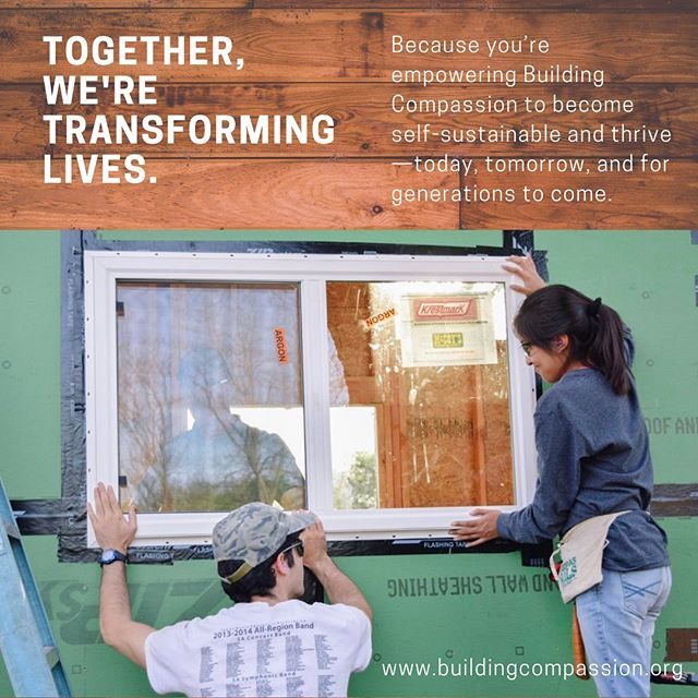 Creating a tinyhome community can give sustainability to Building Compassion for generations to come.