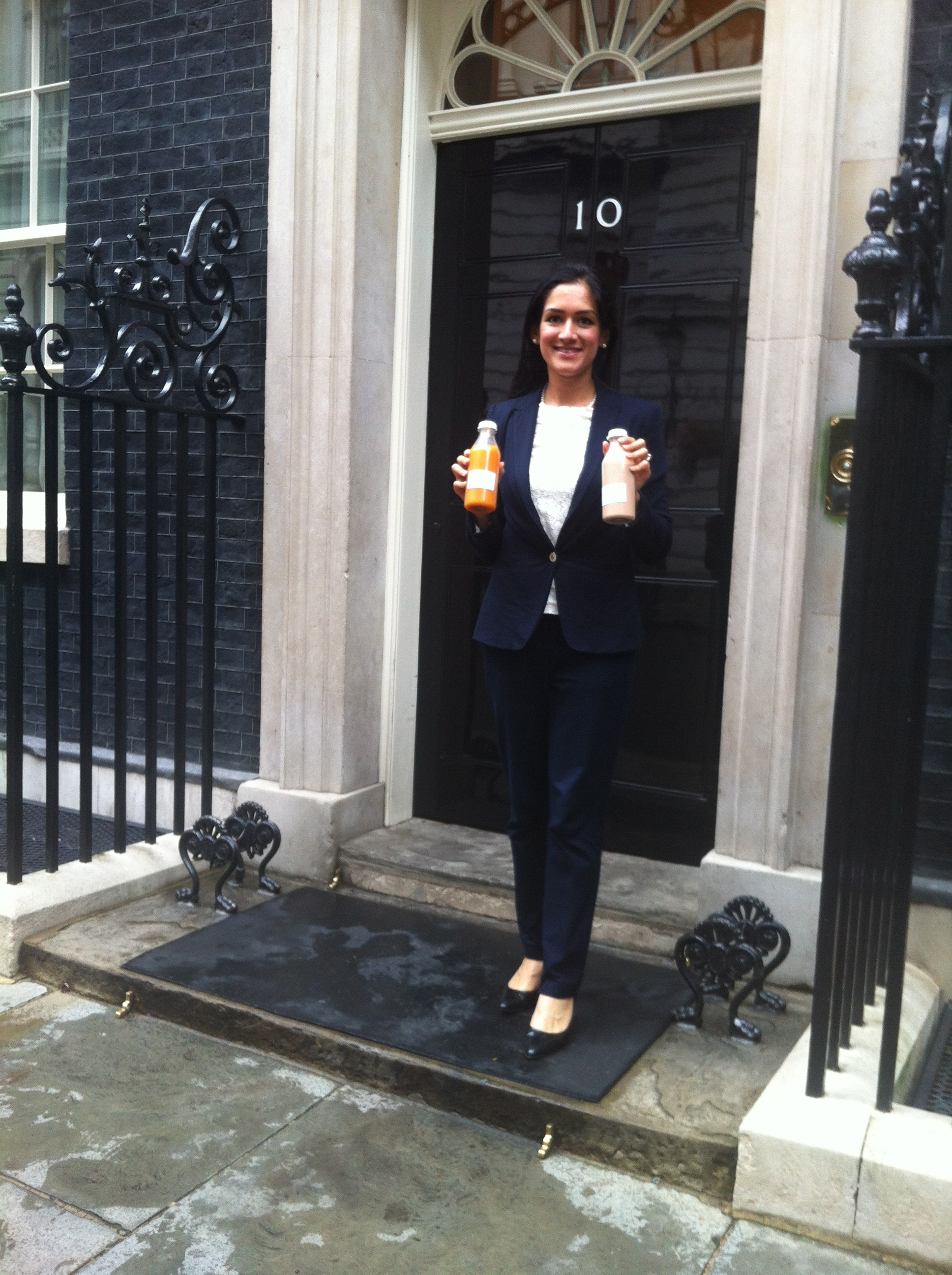 Talking healthy Food & Drink at a Small Business Event at No. 10