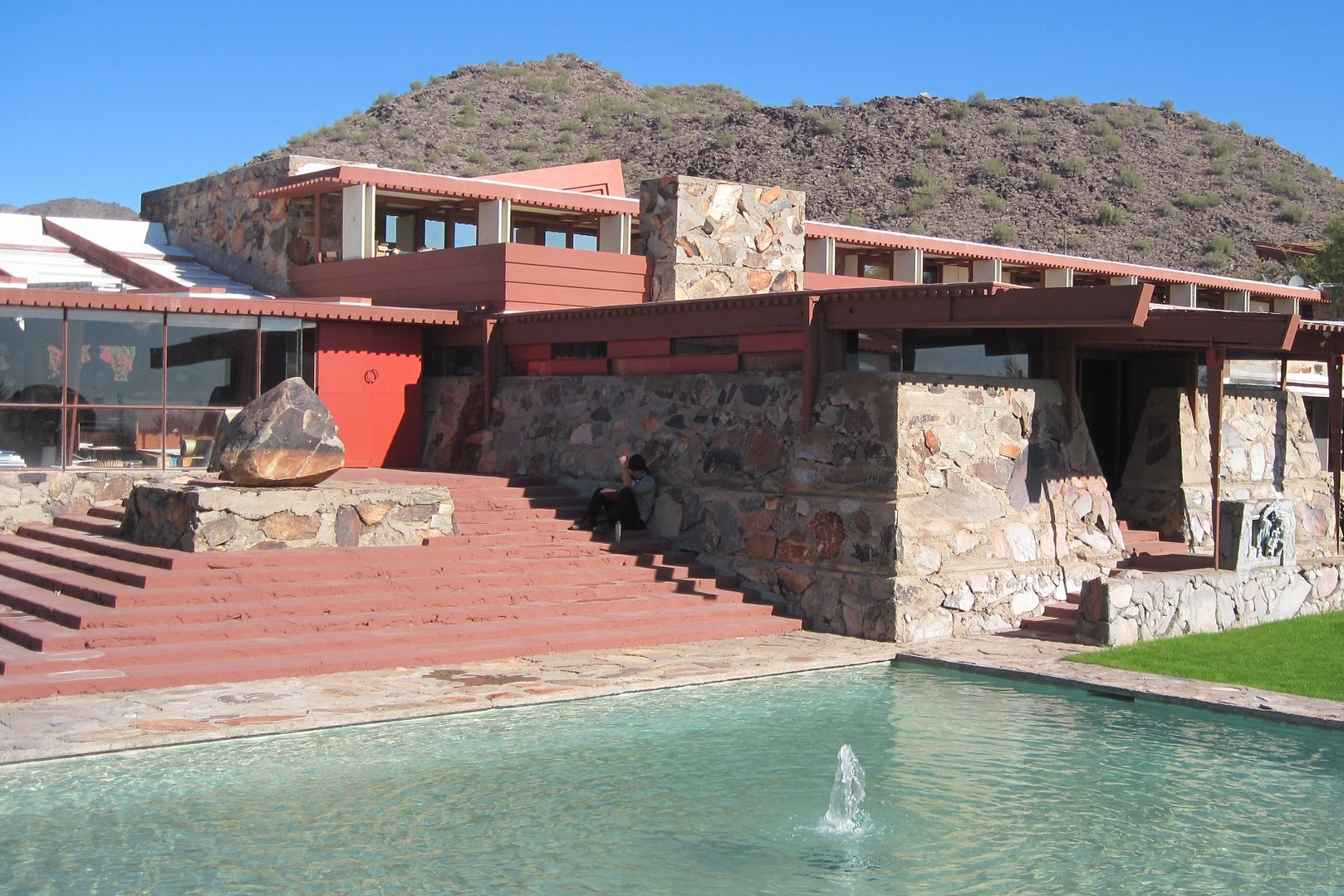 Taliesin West - This is Frank Lloyd Wright's world famous home and architectural laboratory. Built in 1937 by the famous architect himself, it is now a National Historic Landmark.