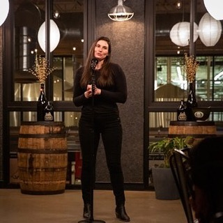 Kelly Offner of @beautifulphl won both the Judges' award and the Audience Favorite last night at MISSION Story Slam 3: Saving Us From Ourselves at @yardsbrew last night with a great story about a mountain of old tires and defying expectations. See the story at missionstoryslam.org
