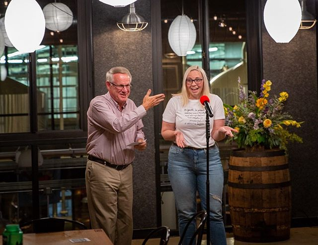 Laura Lacy of @atticbrewing won both the Judges' Award and the Crowd Favorite last night at MISSION Story Slam 4: Facepalm at @yardsbrew with a great story about ambition, burning the candle at both ends, and one hilarious misunderstanding. Laura chose the nonprofit @facetofacegermantown as the recipient of her combined $350 prize. See the entire story at missionstoryslam.org