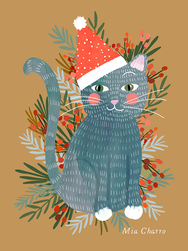 Xmas cat by Mia Charro.jpg