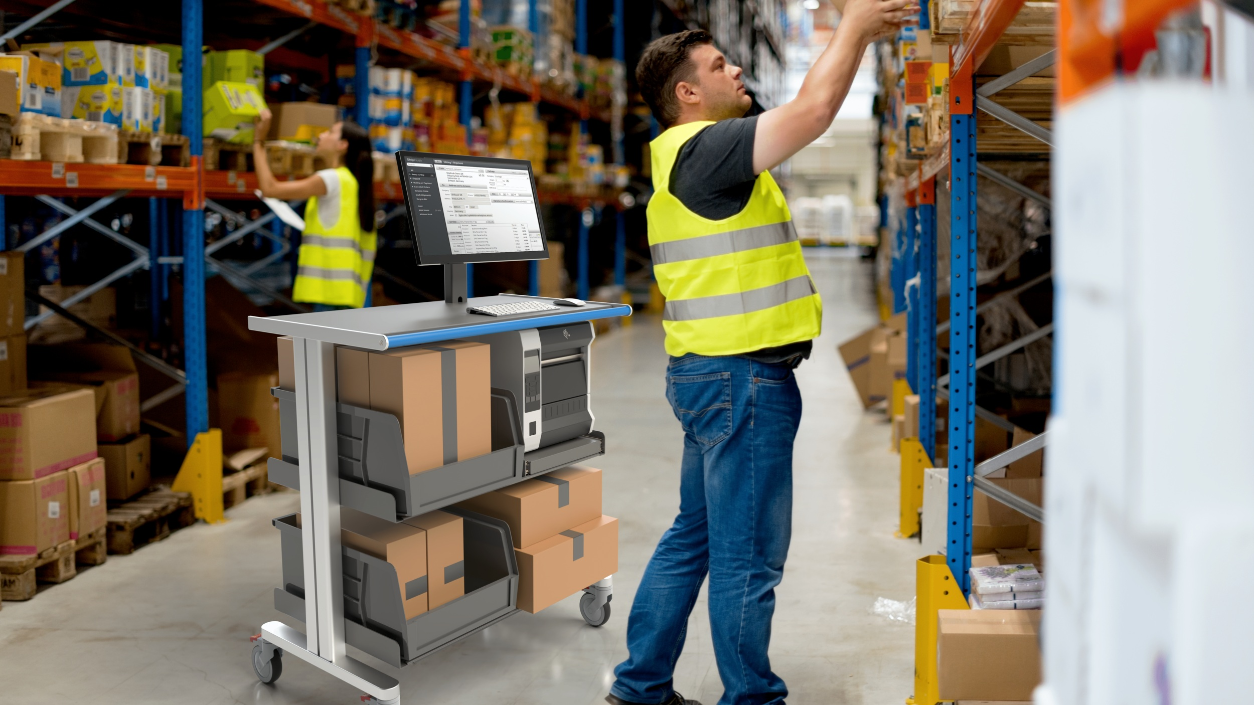 warehouse-fulfillment-center-order-picking-cart