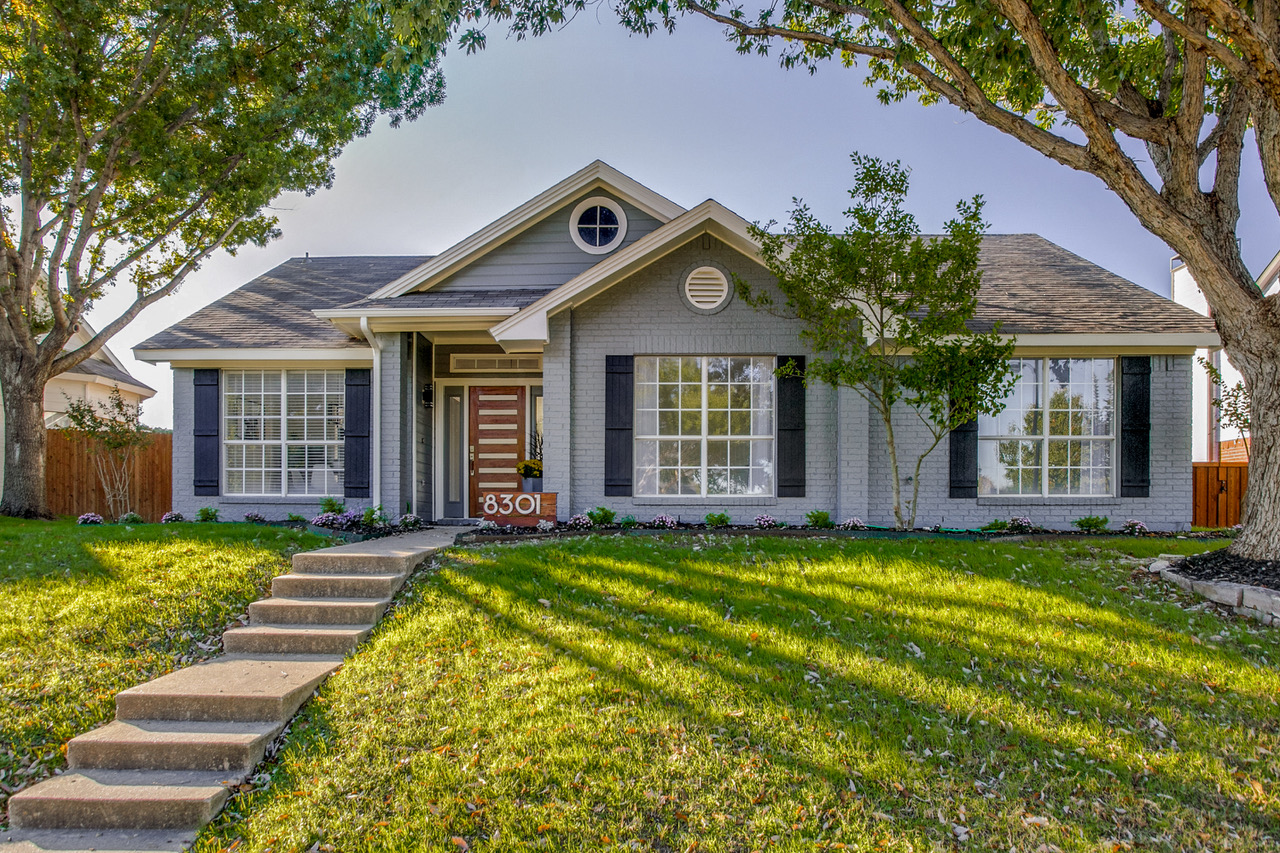 Organic Modern - Come experience this Organic Modern stunner located in the heart of Frisco! Newly remodeled with clean lines, modern gray painted brick exterior and the very latest in design and colors. This home truly stands apart.