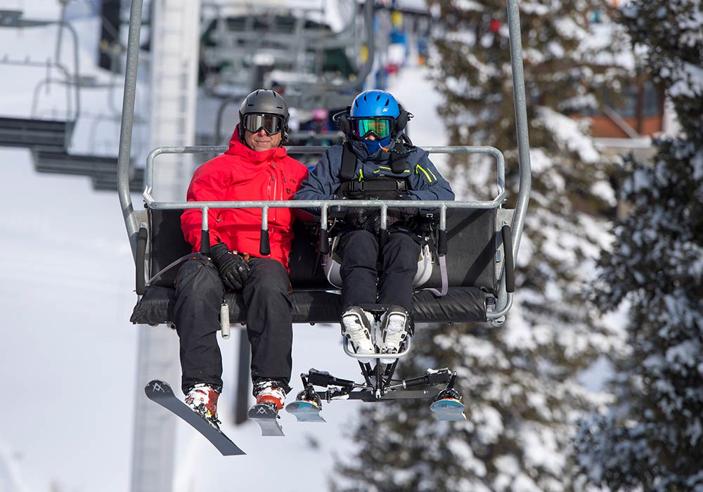 SAFE & SECURE IN CHAIRLIFT<strong> Allows use of standard safety bar.</strong><br><i>enlarge +</i>