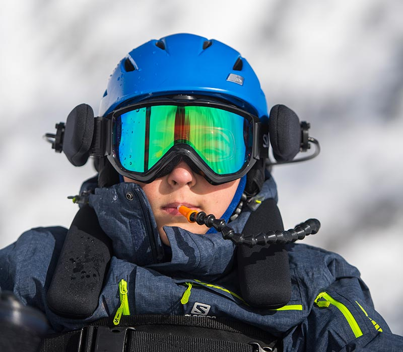 SIP-AND-PUFF<strong> Subtle breath control allows skiers to turn and adjust speed.</strong><br><i>enlarge +</i>