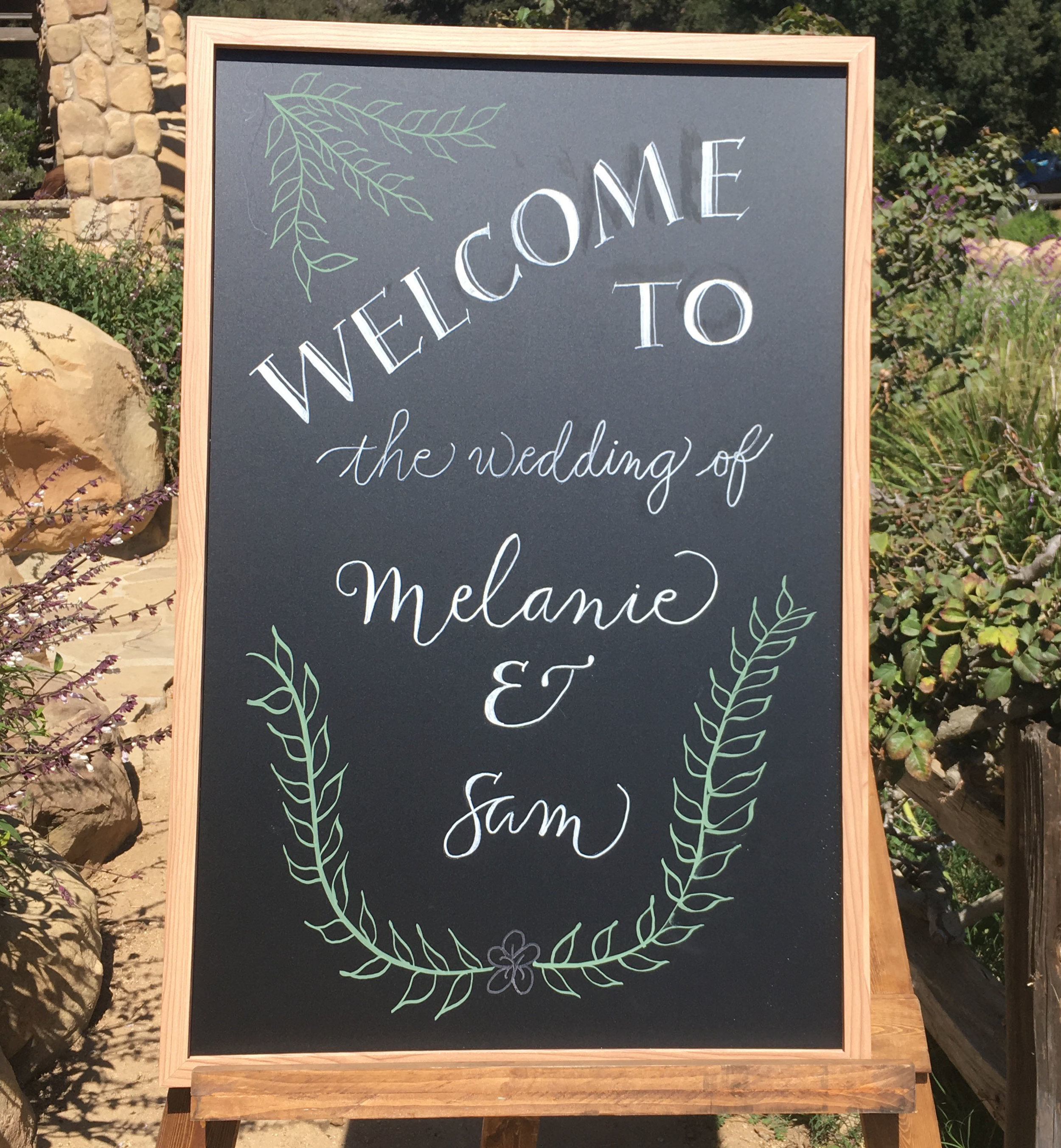 Sam & Mel's welcome sign.jpg