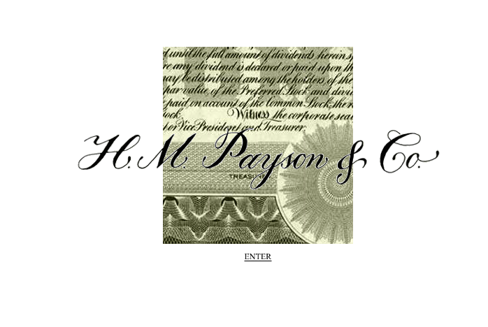 Logo design for H.M. Payson investment firm, reflecting their 1850s roots