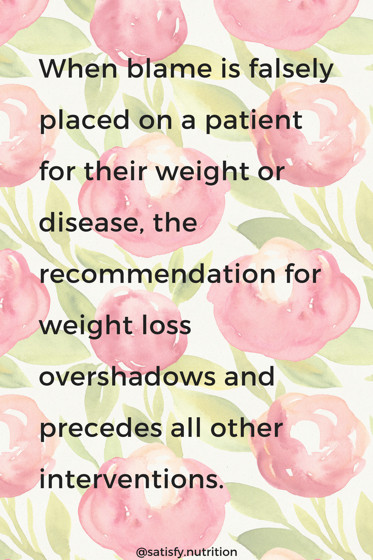 food is not medicine