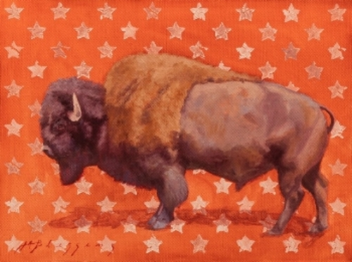 """""""All American"""" 9 x 12 Featured in Western Art Collector, November 2018"""