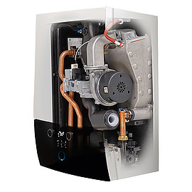 ROTEX TECHNOLOGY - The wall mounted GW smart gas condensing boilers from ROTEX are characterized by a small footprint, extremely straightforward operation and installation, quiet running and maximum efficiency for domestic hot water and central heating.For variable use various types and versatile flue gas installation variants are available. The wall mounted gas boiler has the NOX class 6 and can be operated independently of the room air. The operation is possible with natural gas or liquefied gas.