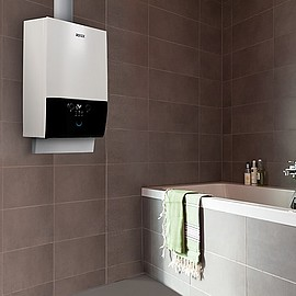 COMPACT - The GW Smart is effective up to 109 %. The extremely lightweight boiler weighs just 27 kilograms and can be installed in a variety of settings thanks to its compact dimensions. All parts are accessible from the front of the unit, facilitating maintenance.
