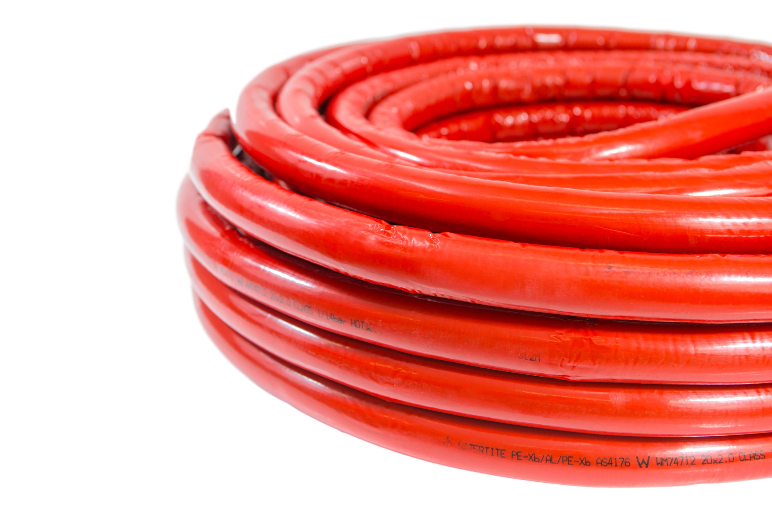 Pex-Al-Pex Pipe Coil - Insulated (Red)