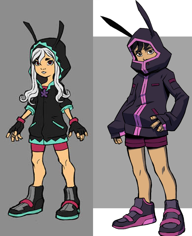 Old design (left) vs New design (right) of    Paloma   . Notice how I reduced the amount of detail from the original design.