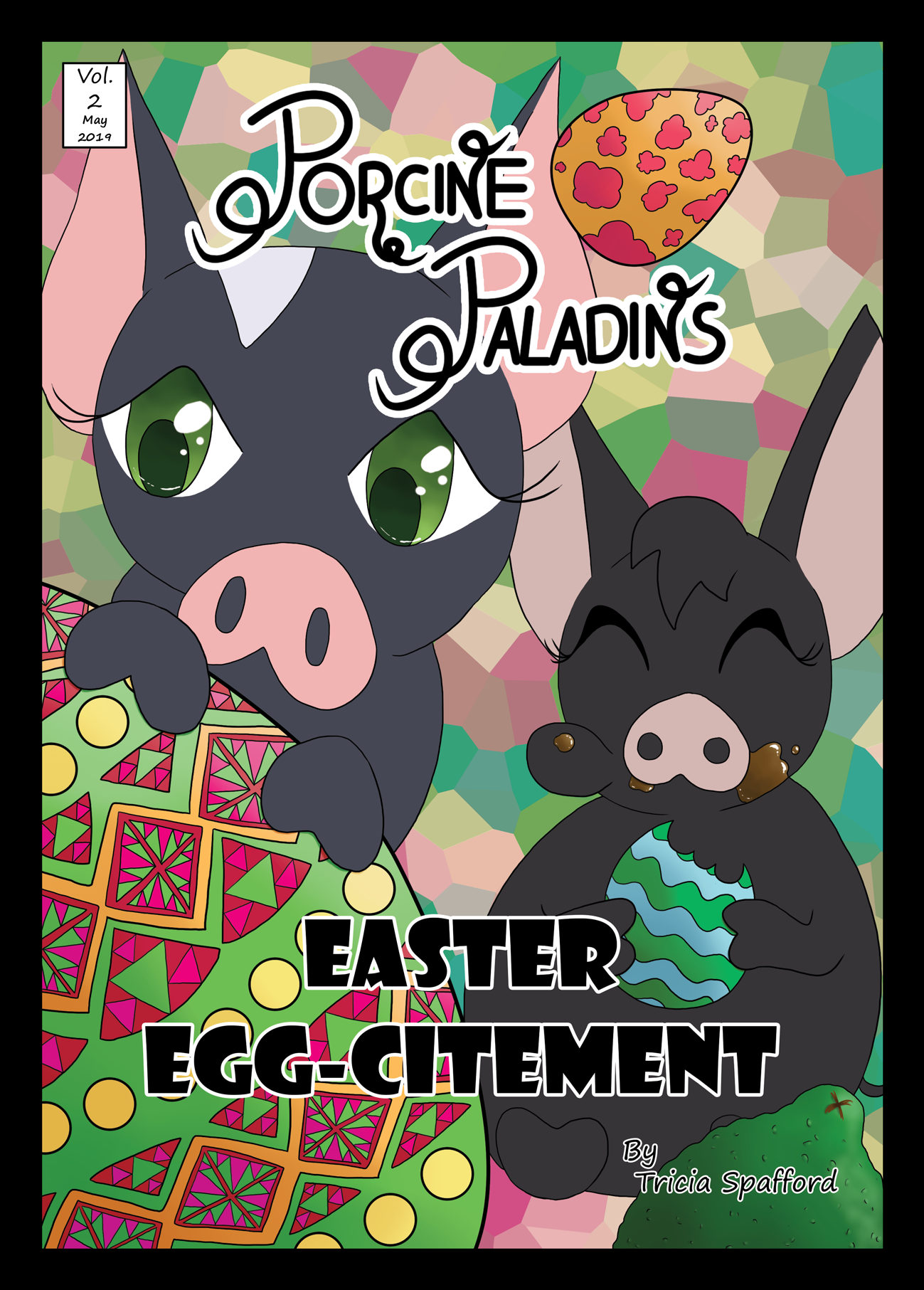 Volume 2 of the 'Porcine Paladins' comics features Tiny and Ariel as they uncover a delicious chocolate-y mystery happening right in their back yard.