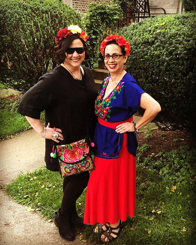 Wearing our crowns today!!Frida-fest here we come!!! Here representing @teamariastudios with my sister @twizzler909  #fridafest #collegeofdupage #allthingsfrida #marialendsey #fridakahlo #artfest #crownofflowers #teamariastudios #mllmetals #neiuart #neiulife #artist #jewelryartist #metalsmith #maker #ilovefrida
