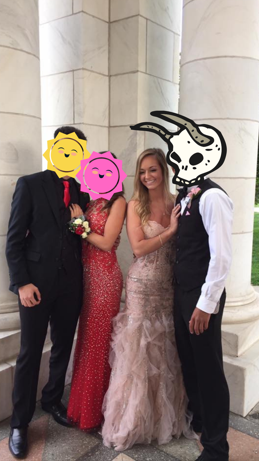My senior prom with great friends + Chad