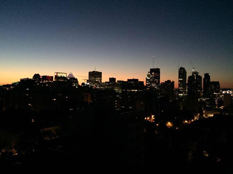The view from my balcony in Montreal, Quebec.