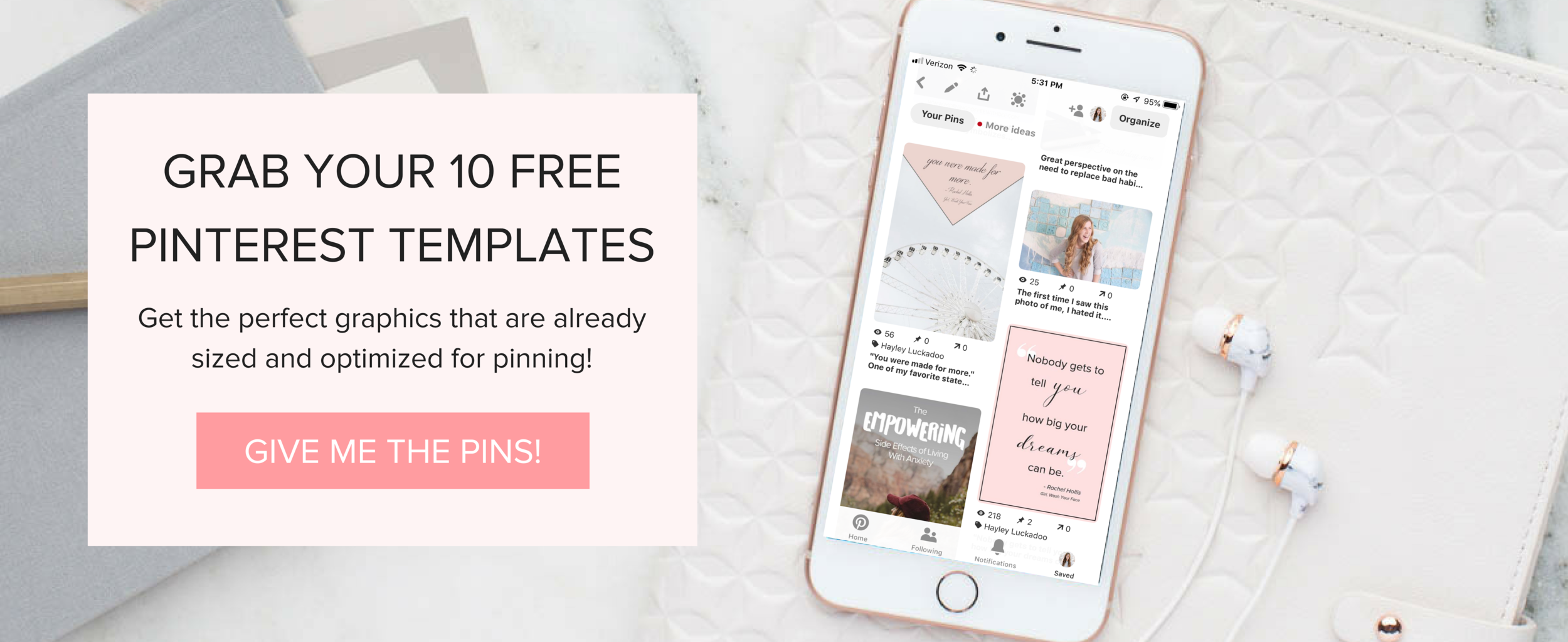 Free Pinterest Templates for your content creation